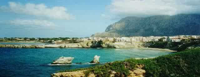 Sicily, Terrasini, a famous little village, starting point to make round trips or to make  vacations in sicilian style by doing nothing