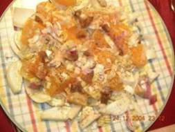 Orangen_Fenchelsalat mit geräuchertem Hering