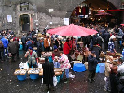 der Fischmarkt von Catania