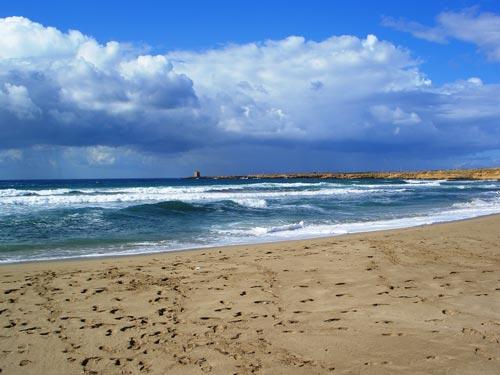 Der Strand von Terrasini im September